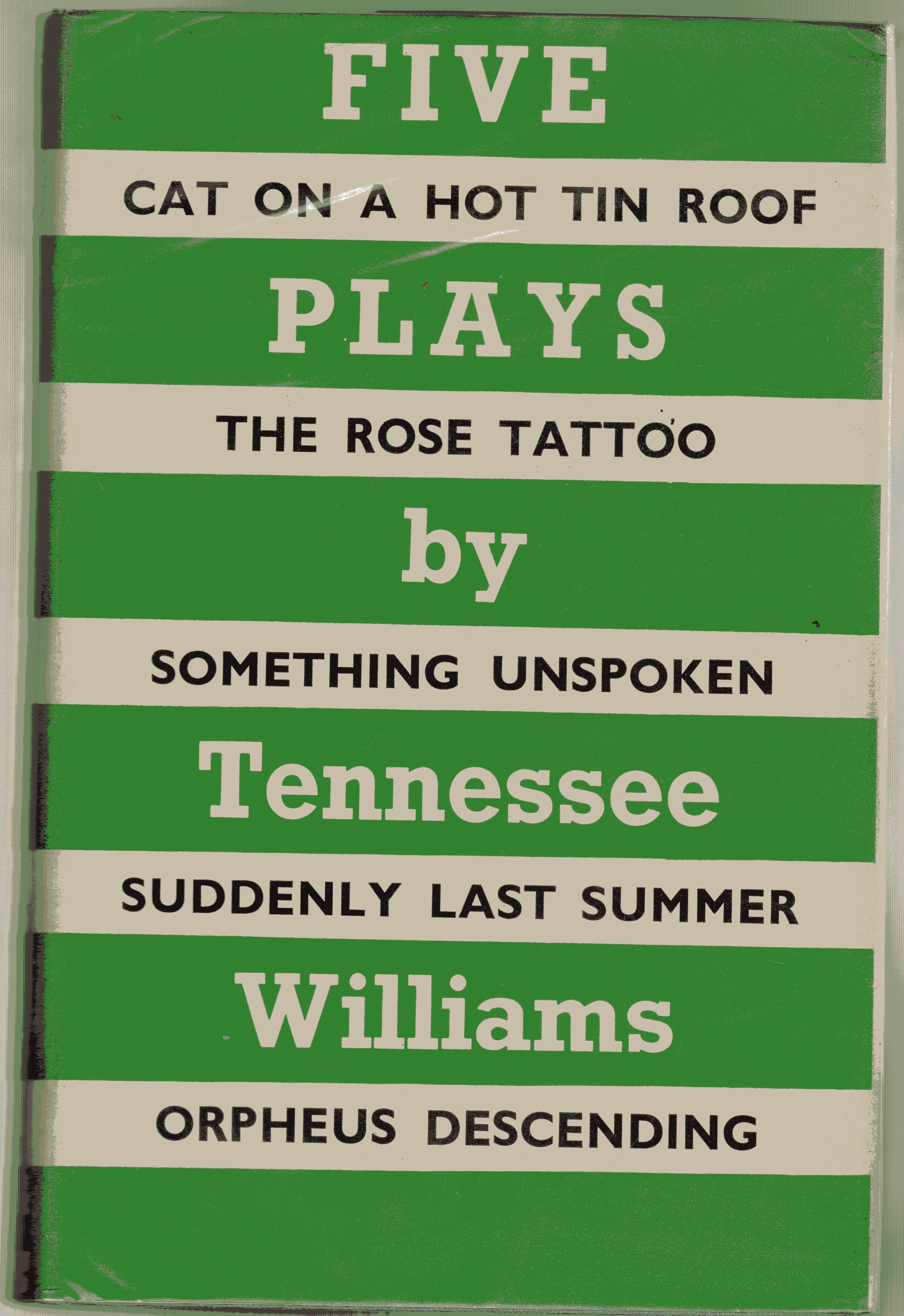 Image for Five Plays By Tennessee Williams