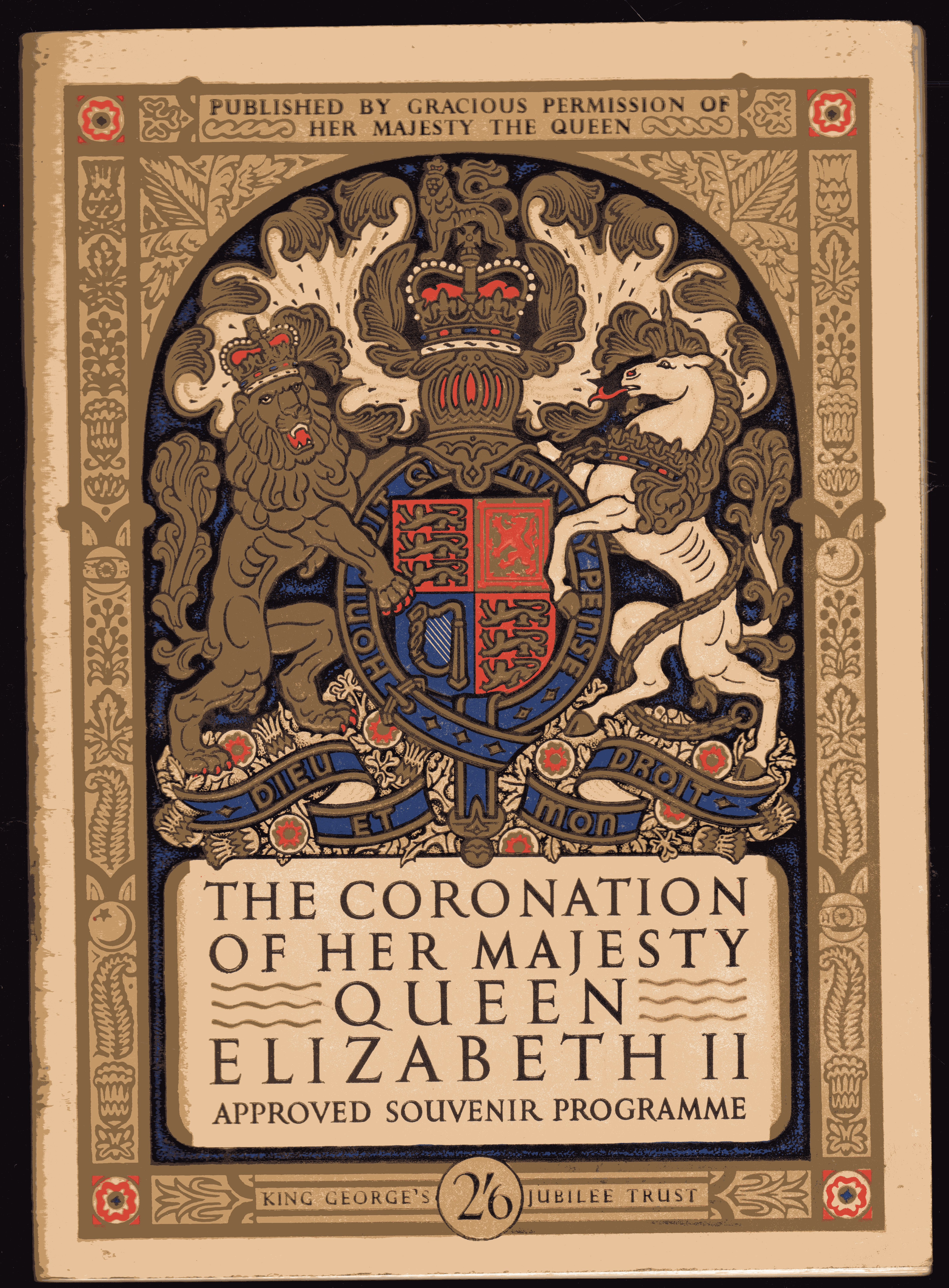 Image for The Coronation of Her Majesty Queen Elizabeth II -  Approved Souvenir Programme