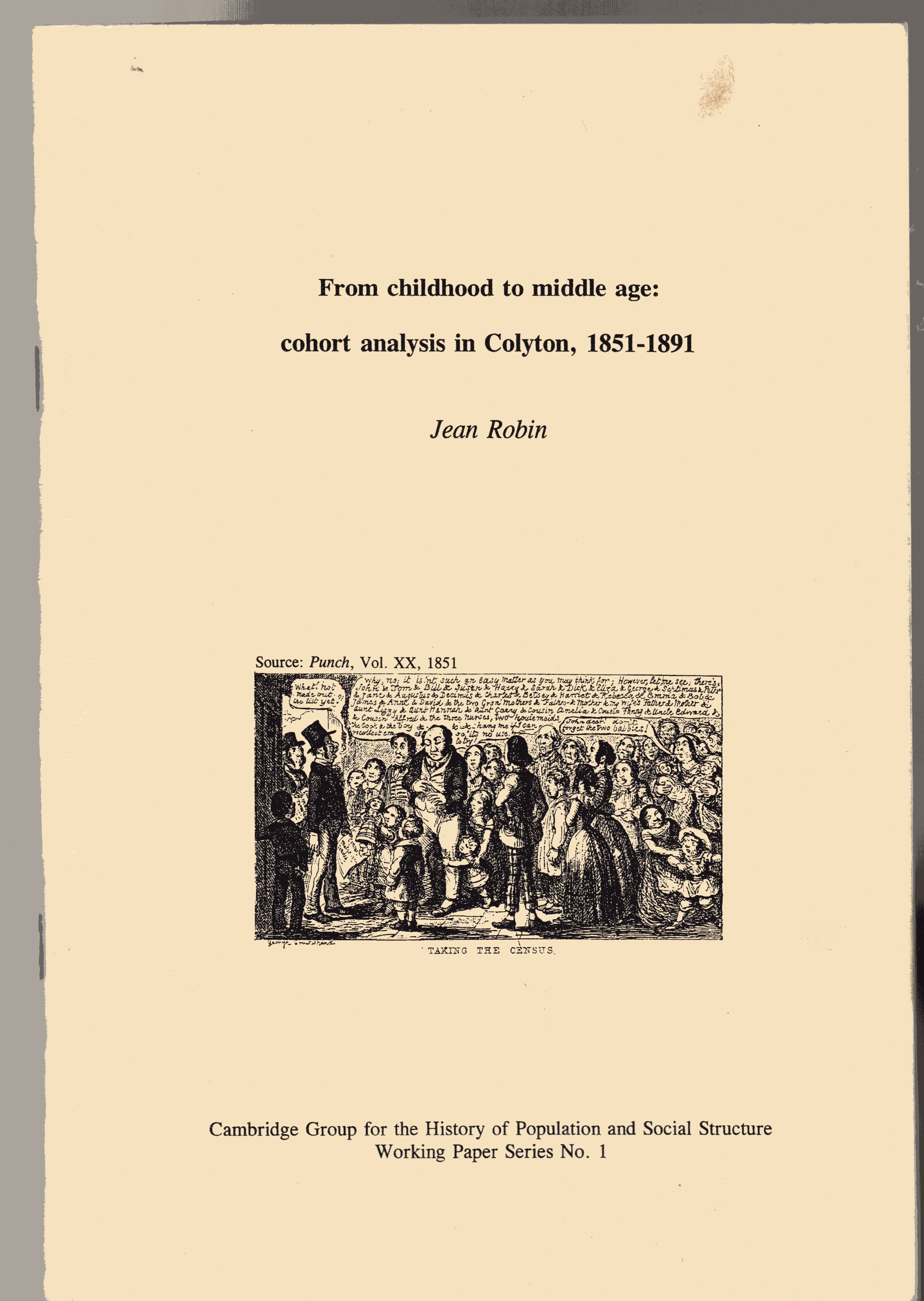Image for From Childhood to Middle Age: Cohort Analysis in Colyton 1851-1891