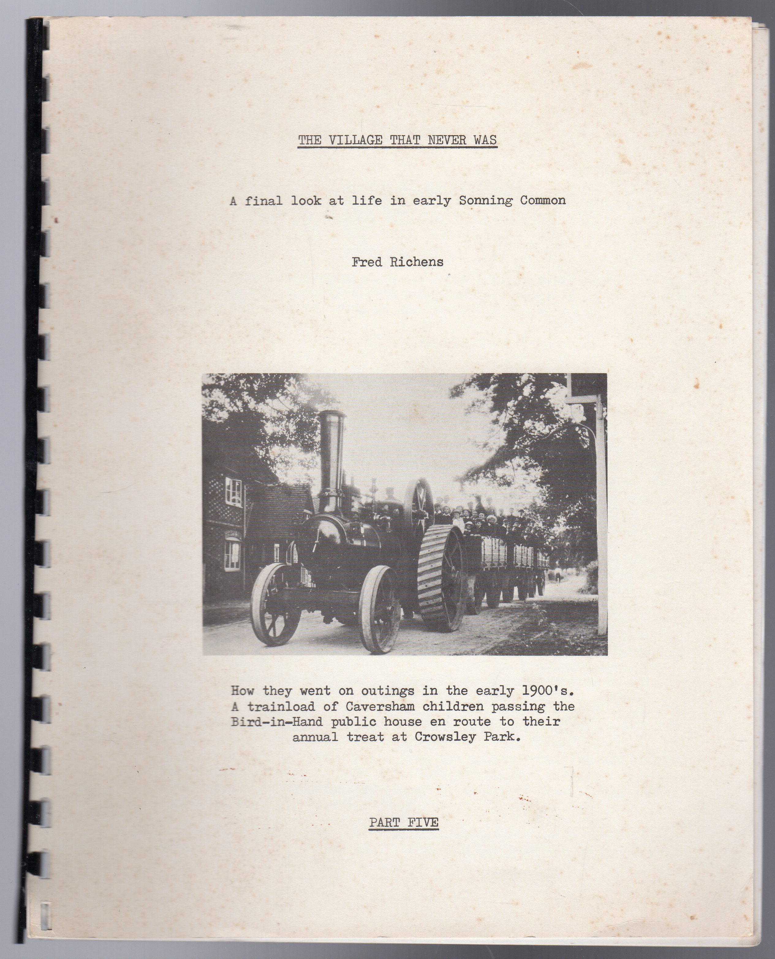 Image for The Village That Never Was : Part 5 - A Final Look at Life in Early Sonning Common