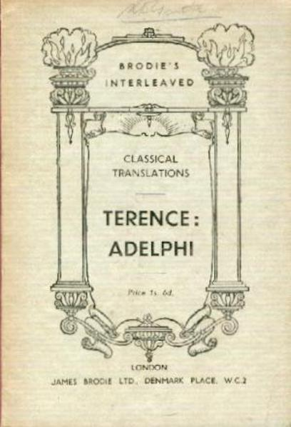 Image for Adelphi : The Brothers - A Literal Translation