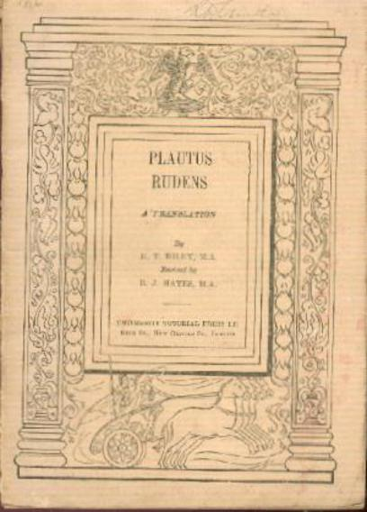 Image for Plautus - Rudens  a Translation