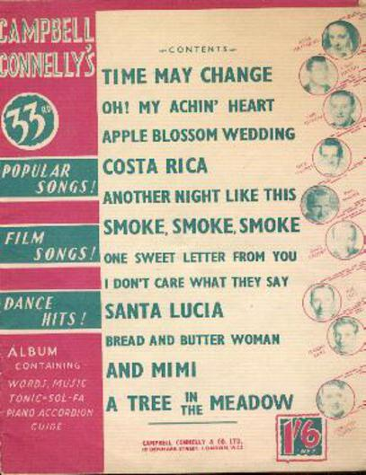 Image for Campbell Connelly's Popular Songs, Film Songs, Dance Hits