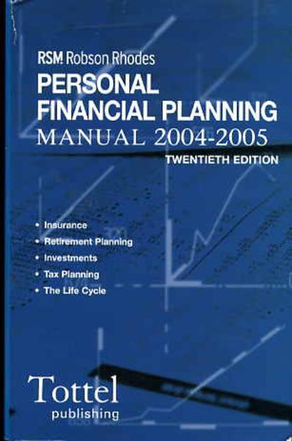 Image for RSM Robson Rhodes : Personal Financial Planning Manual  2004-2005