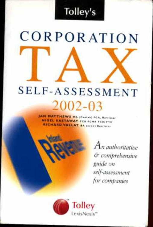Image for Tolley's Corporation Tax Self-assessment 2002-2003