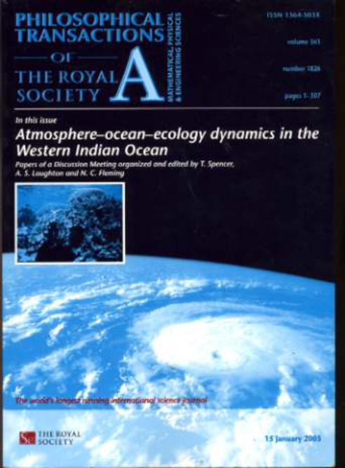 Image for Phillosphical Transactions of the Royal Society Volume 363 Number 1826  January 2005
