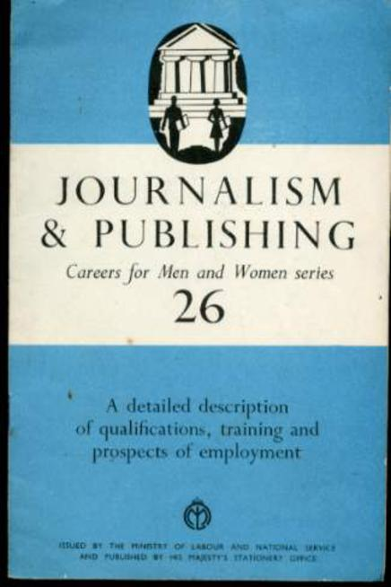 Image for Careers for Men and Women Series : No. 26  Journalism & Publishing