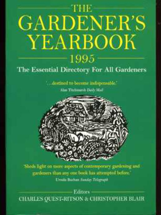 Image for Gardener's Yearbook 1995 ; The Essential Directory for All Gardeners