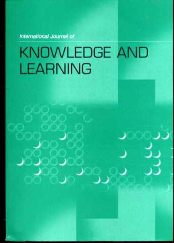 Image for International Journal of Knowledge and Learning Volume 1, No 3