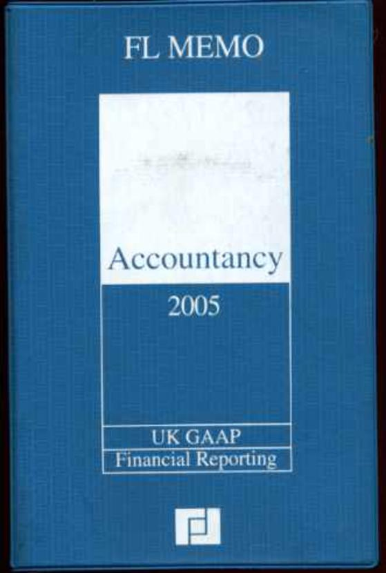 Image for Accountancy Memo 2005 : UK Financial Reporting, UK GAAP