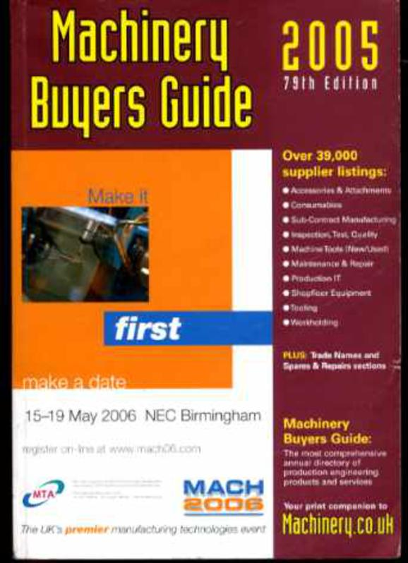 Image for Machinery Buyers Guide : 2005