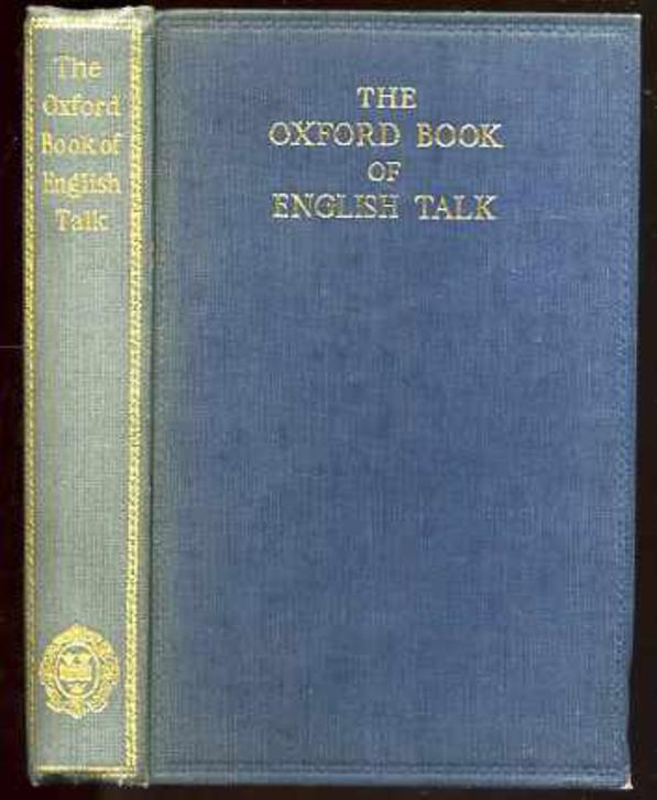 Image for The Oxford Bookof English Talk