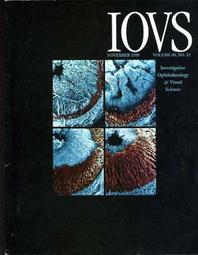 Image for IOVS Investigative Ophthalmology & Visual Science; Volume 40, Number1 2; November 1999