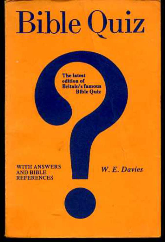 Image for Bible Quiz with Answers