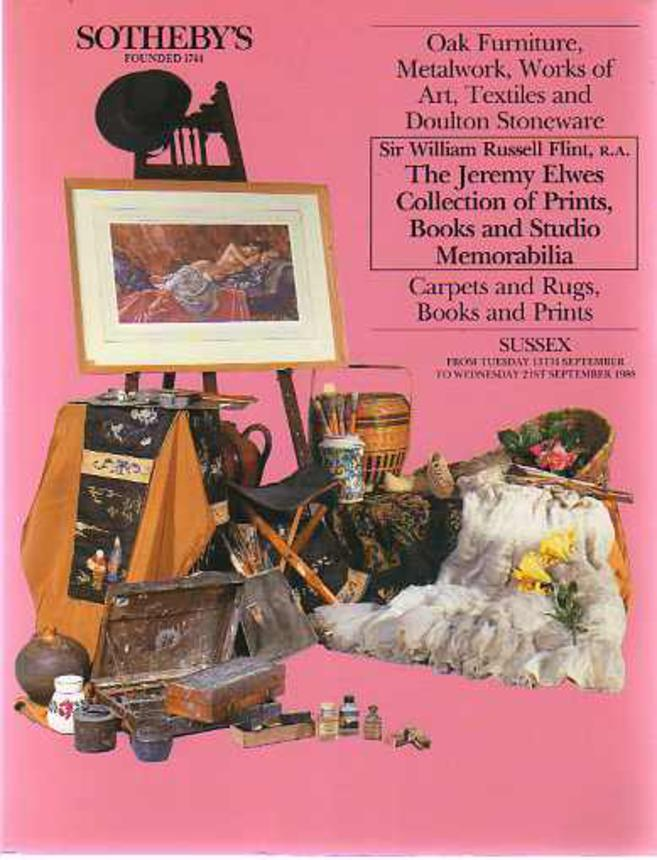 Image for Sotheby's Catalogue Oak Furniture, Metalwork, Works of Art, Textiles, & Doulton Stoneware, The Jeremy Elwes Collection of Prints, Books & Studio Memorabilia Etc
