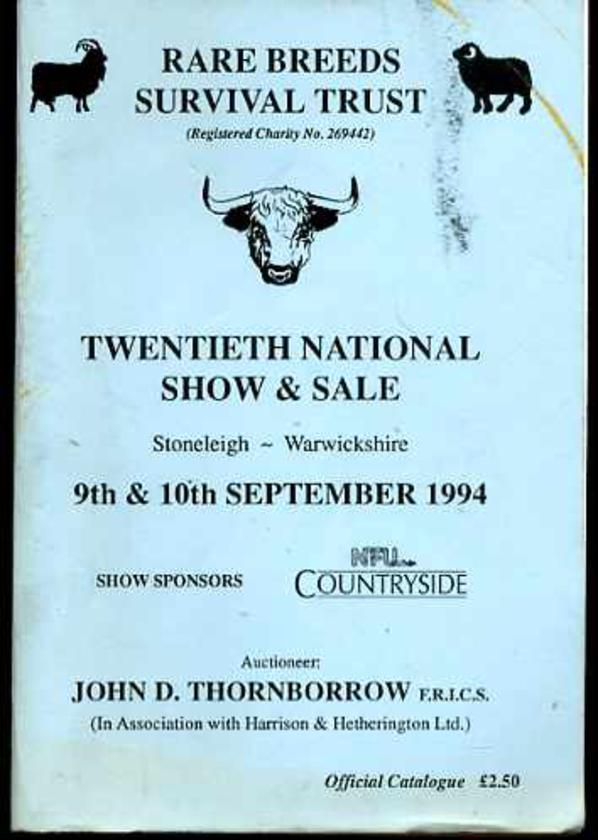 Image for The Rare Breeds Survival Trust Twentieth National Show and Sale