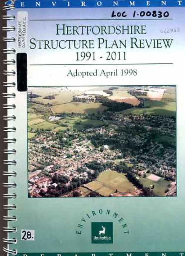 Image for Hertfordshire Structure Plan Review,1991-2011