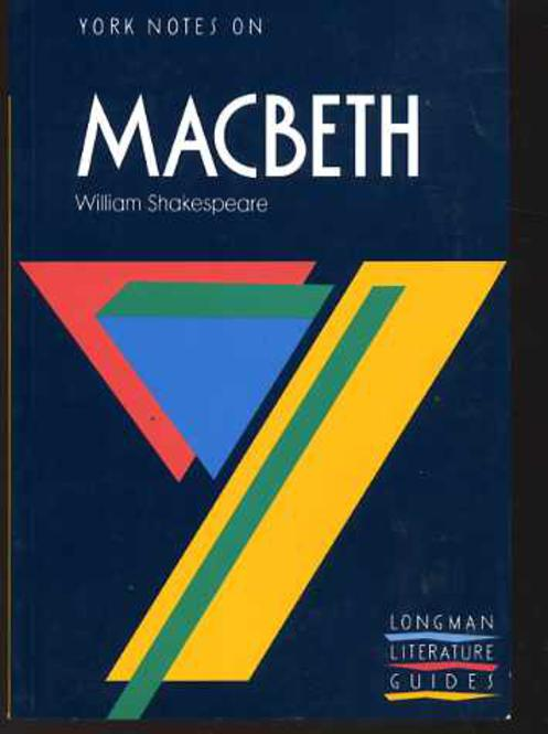 "Image for York Notes on William Shakespeare's ""Macbeth"""