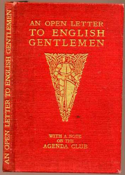 Image for An Open Letter to English Gentlemen