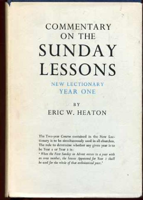 Image for Commentary on the Sunday Lessons - New Lectionary Year One