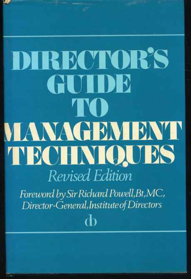 Image for Director's Guide to Management Techniques : with Glossary of Management Terms