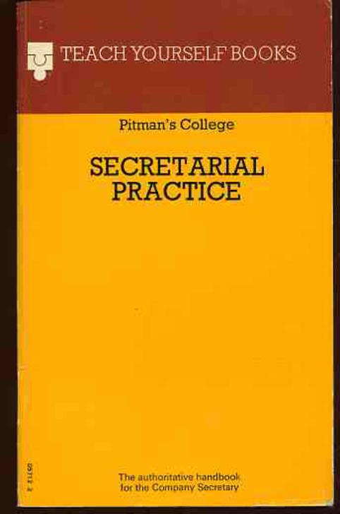 Image for Teach Yourself Books : Secretarial Practice
