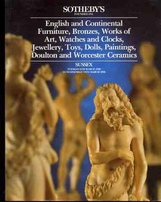 Image for English and Continental Furniture, Bronzes, Works of Art, Watches and Clocks, Jewellery, Toys, Dolls, Paintings, Doulton and Worcester Ceramics