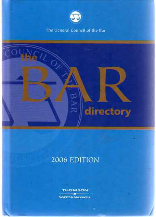 Image for The Bar Directory : 2006 Edition