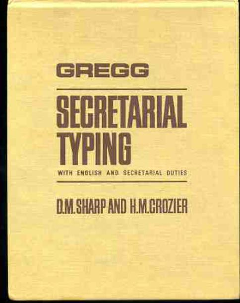 Image for Gregg Secretarial Typing : With English and Secretarial Duties