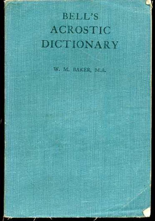 Image for Bell's Acrostic Dictionary