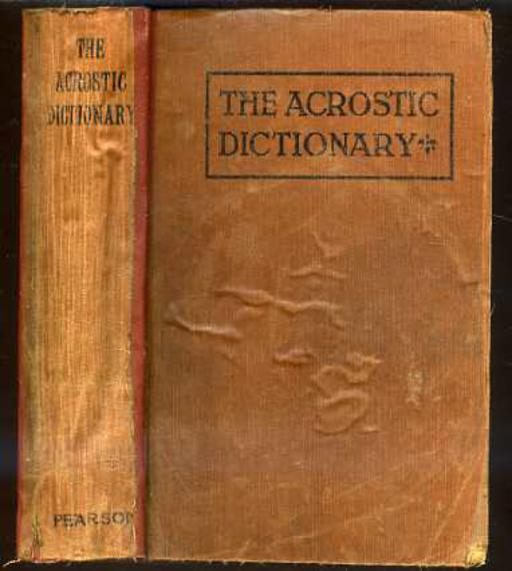 Image for The Acrostic Dictionary