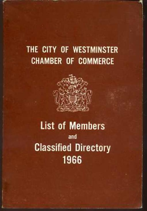 Image for The City of Westminster Chamber of Commerce List of Members and Classified Directory 1966