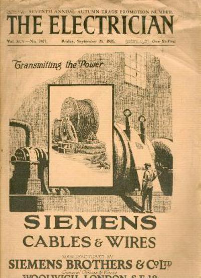 Image for The Electrician - Seventh Annual Autumn Trade Promotion Number. Friday September 25, 1925 Vol XCV No. 2471