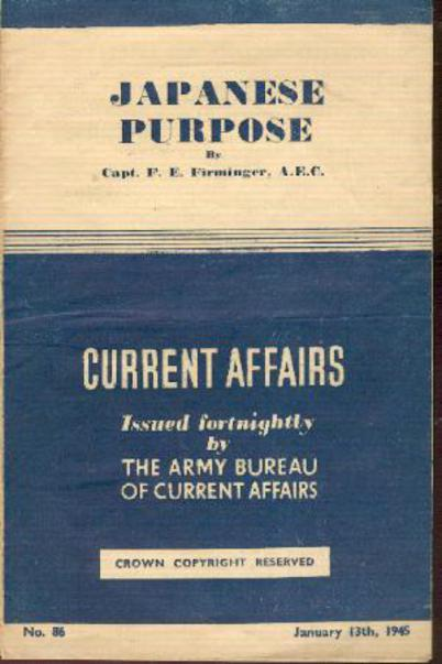 Image for Current Affairs - Japanese Purpose No. 86 January 13th 1945