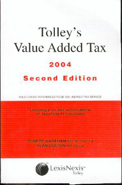 Image for Tolley's Value Added Tax 2004
