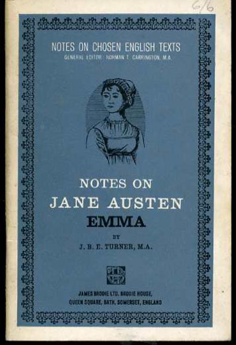 Image for Notes on Jane Austen - Emma