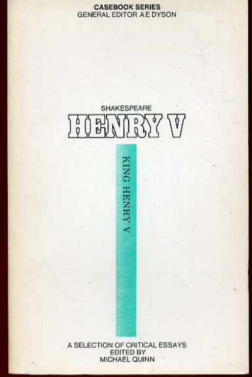 Image for Shakespeare:Henry V: A Casebook