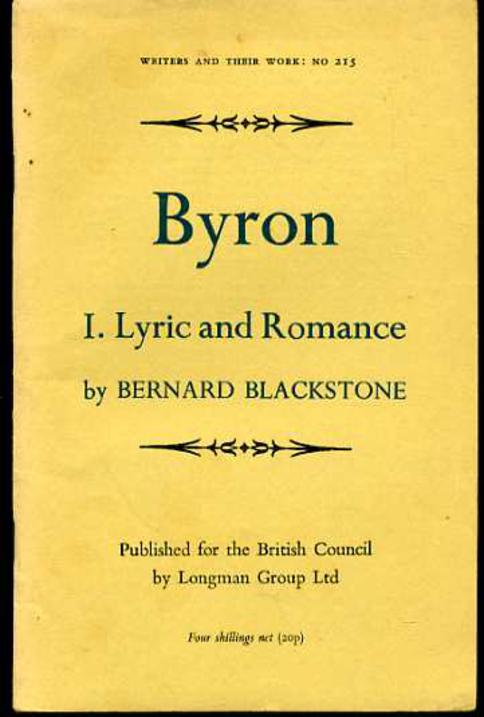 Image for Byron I. Lyric and Romance