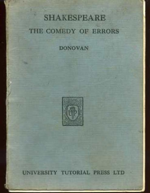 Image for Shalespeare : The Comedy of Errors