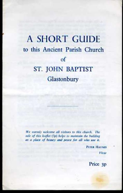 Image for A Short Guide to This Ancient Parish Church of St. John the Baptist, Glastonbury