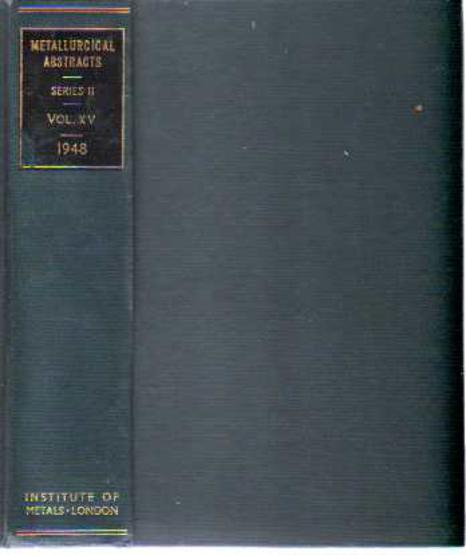 Image for Metallurgical Abstracts (General and Non-Ferrous) Volume 15, 1948