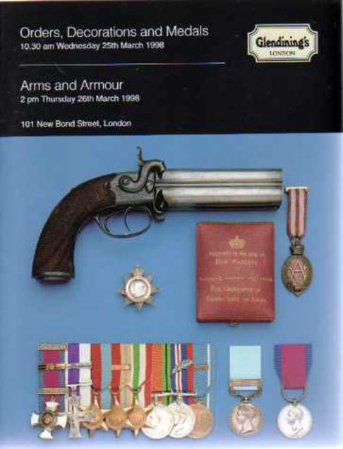 Image for Glendining's Sales Catalogue - Orders Decorations and Medals  & Arms and Armour 25th & 26th March 1988