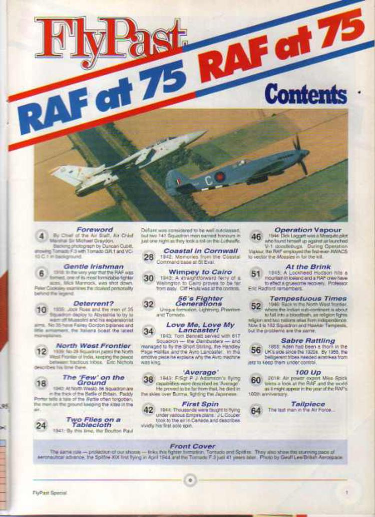 Image for FlyPast Magazine RAF at 75 Extra Issue