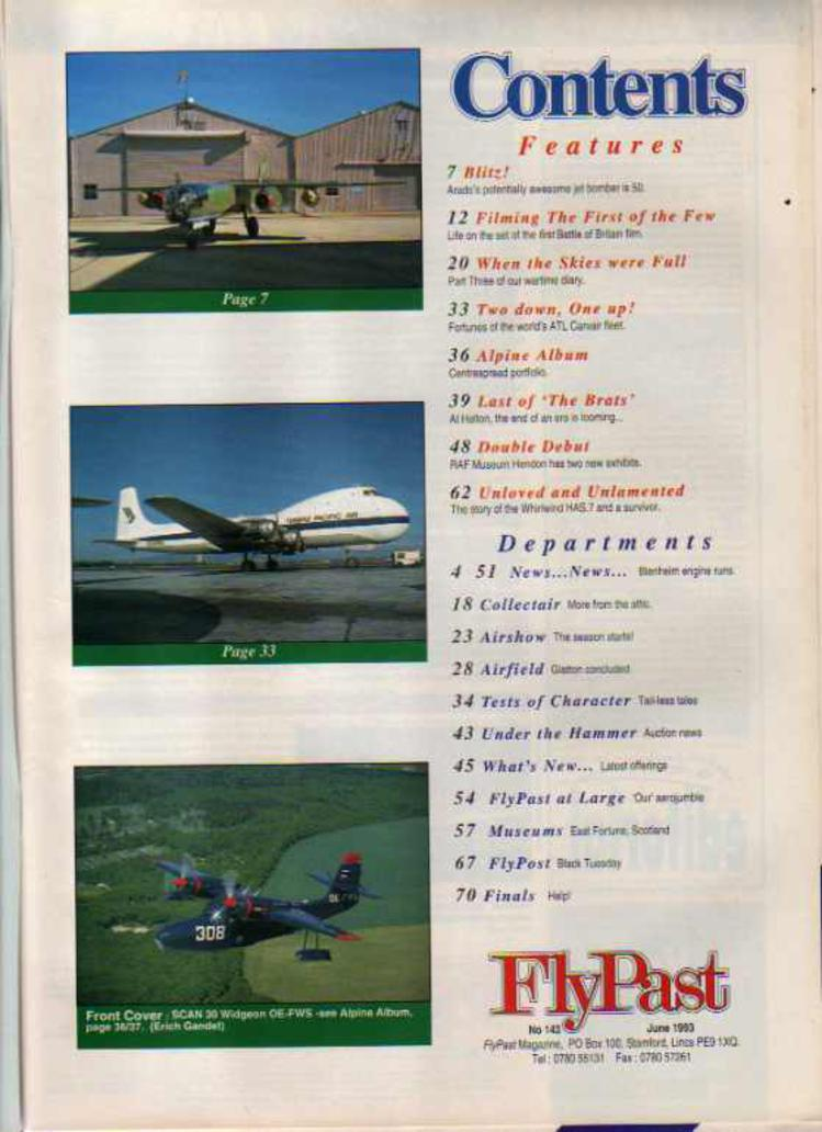Image for FlyPast Magazine  June 1993 No 143