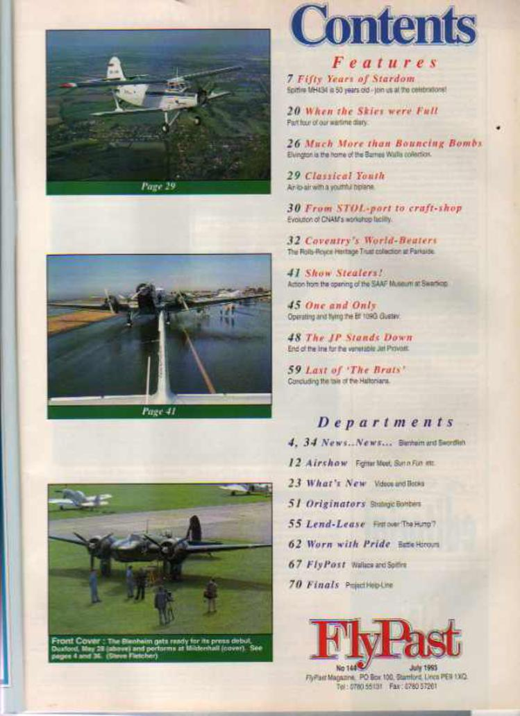 Image for FlyPast Magazine  July 1993 No 144