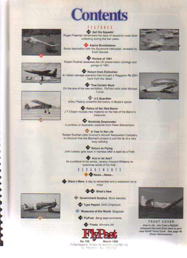 Image for FlyPast Magazine March 1992 No 128