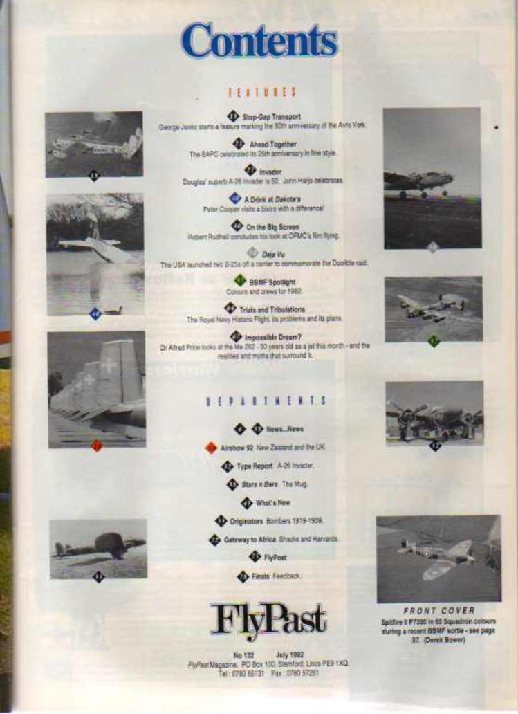 Image for FlyPast Magazine July 1992 No 132