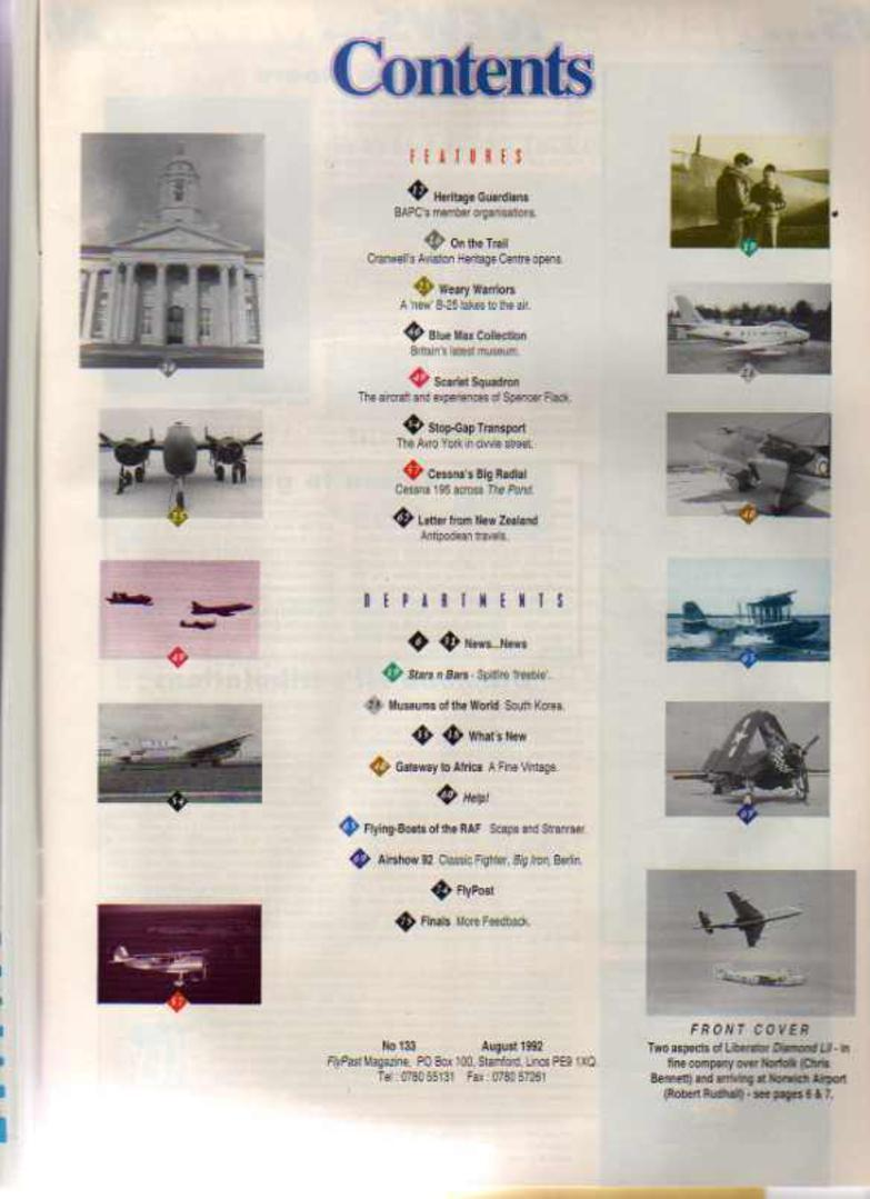 Image for FlyPast Magazine August 1992 No 133