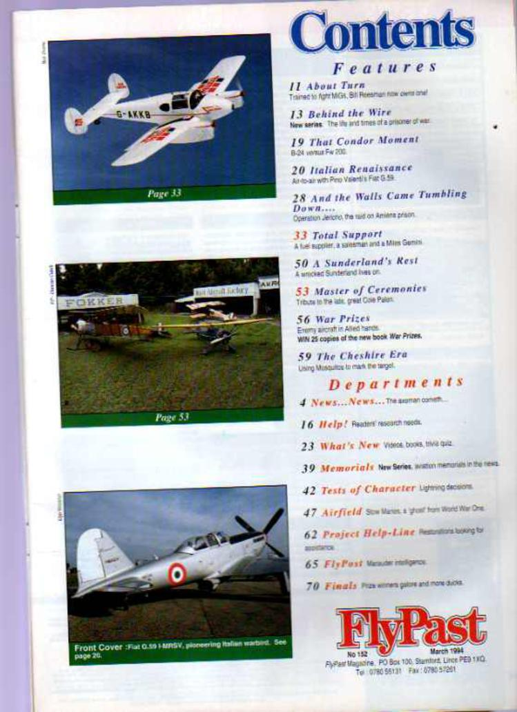 Image for FlyPast Magazine March 1994 No 152