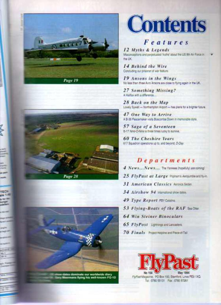 Image for FlyPast Magazine May1994 No 154